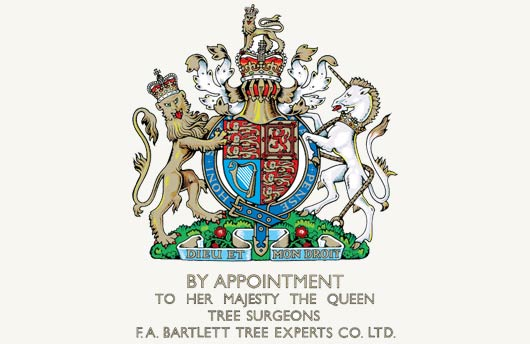 By Appointment to Her Majesty the Queen - Tree Surgeons - F.A. Bartlett Tree Experts Co. LTD.